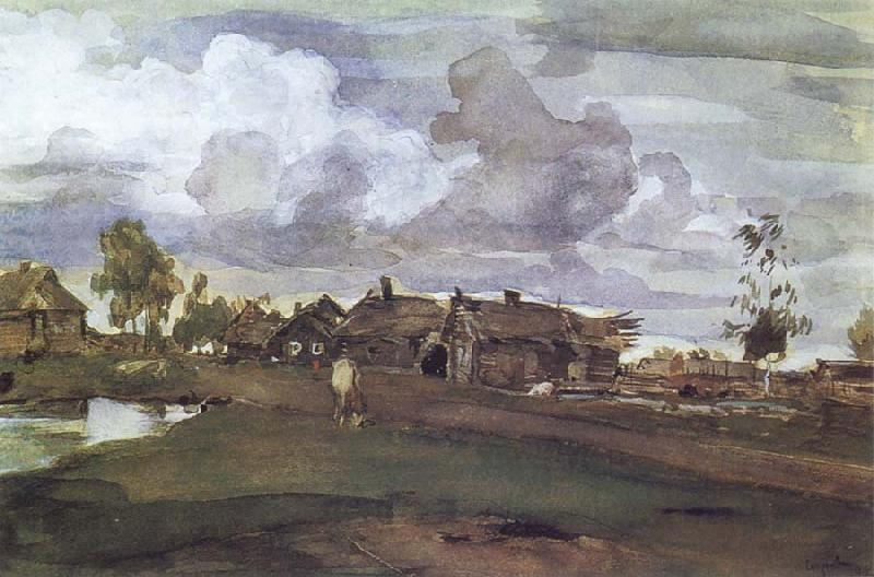 Valentin Serov A Village oil painting picture