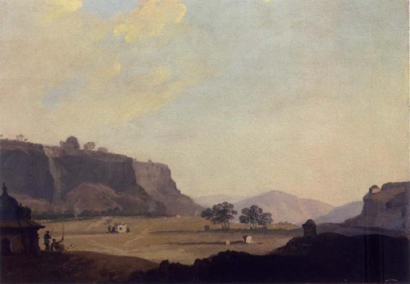 William Hodges A View of Part of the South Side of the Fort at Gwalior oil painting picture