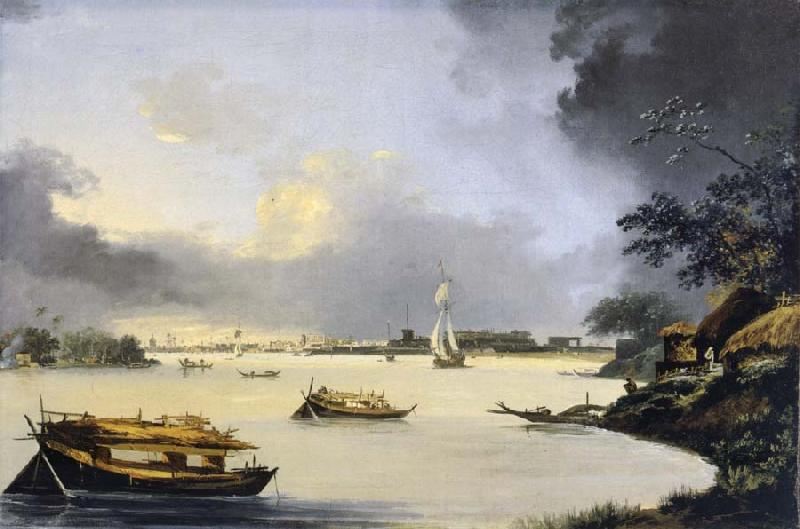 unknow artist View of Calcutta from Garden House Road oil painting picture
