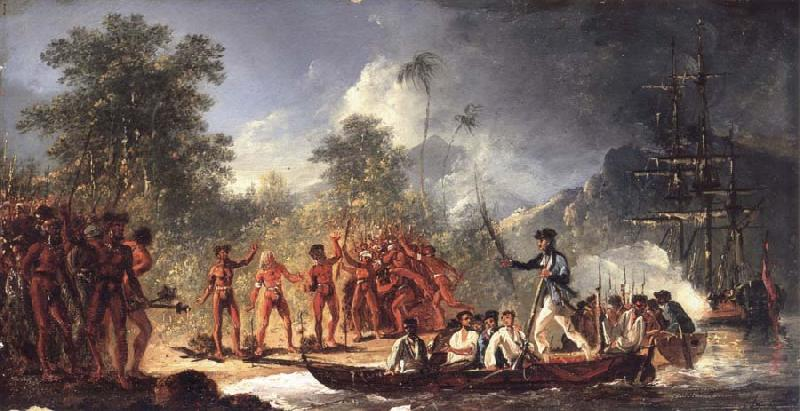 unknow artist The Landing at Tanna Tana one of the new hebrides oil painting picture