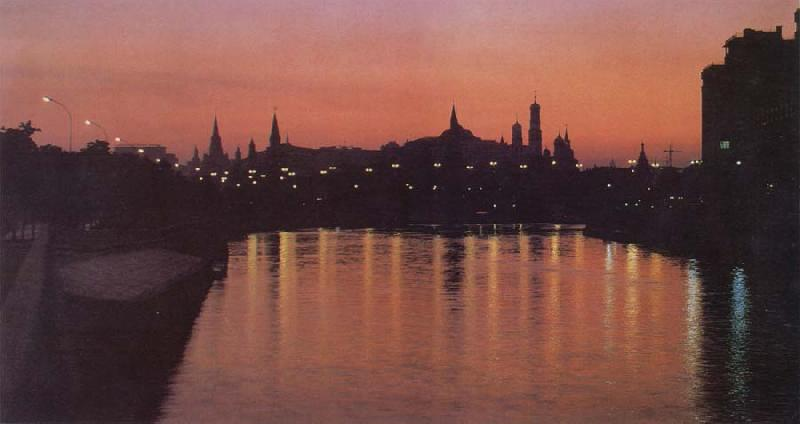 unknow artist Kremlin by Night oil painting picture