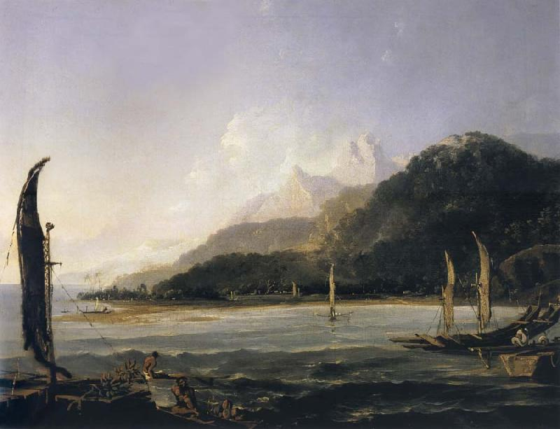 unknow artist A View of Matavai Bay,Tahiti oil painting picture