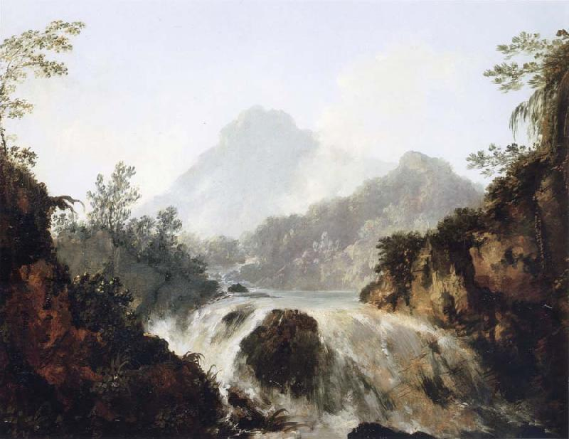 unknow artist A Cascade in the Tuauru Valley,Tahiti oil painting picture