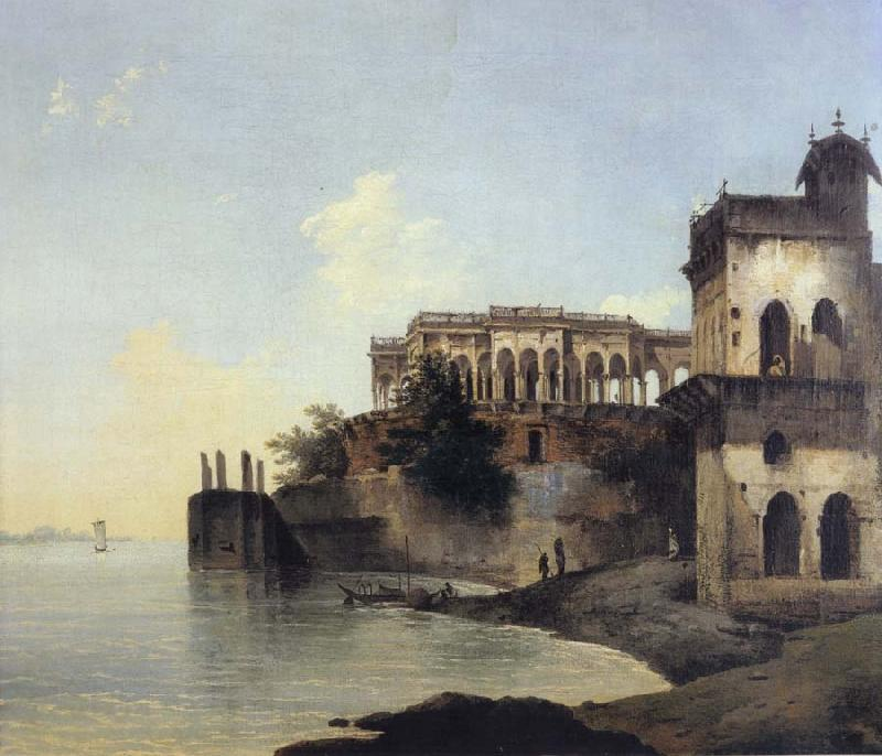 unknow artist View of the Ruins of a Palace at Gazipoor on the River Ganges oil painting picture