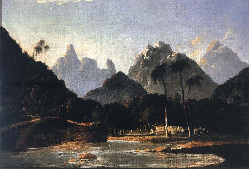 unknow artist A View of Vaitepeha Bay,Tahiti oil painting picture