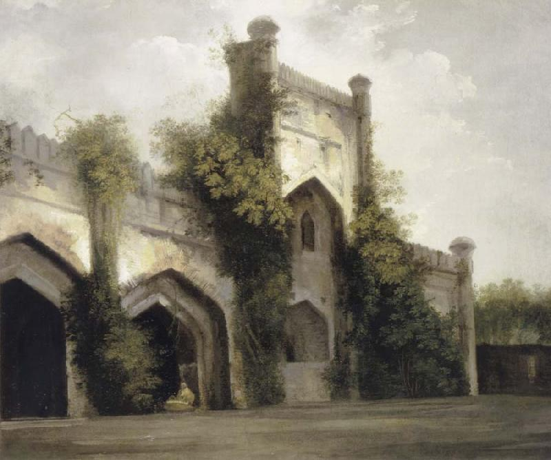 unknow artist View of a Mosque at Rajmahal oil painting picture