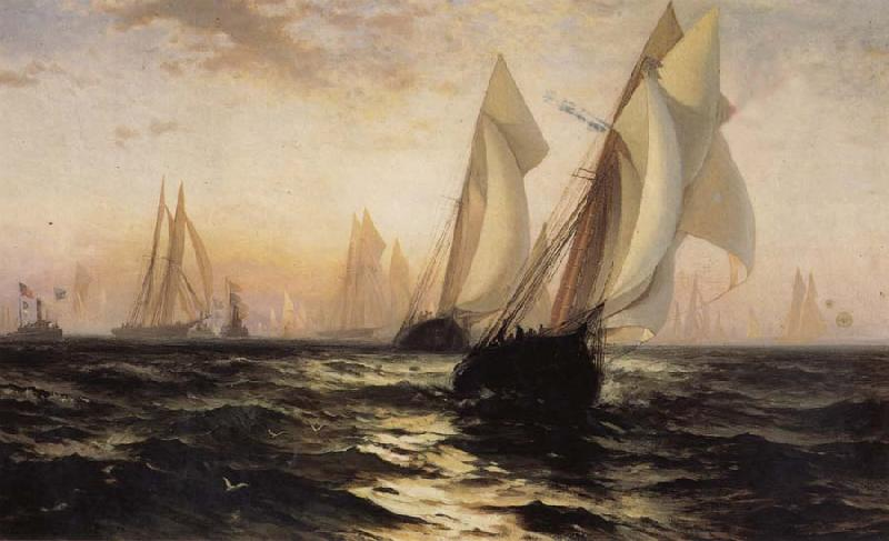 Anonymous Sailboat oil painting image