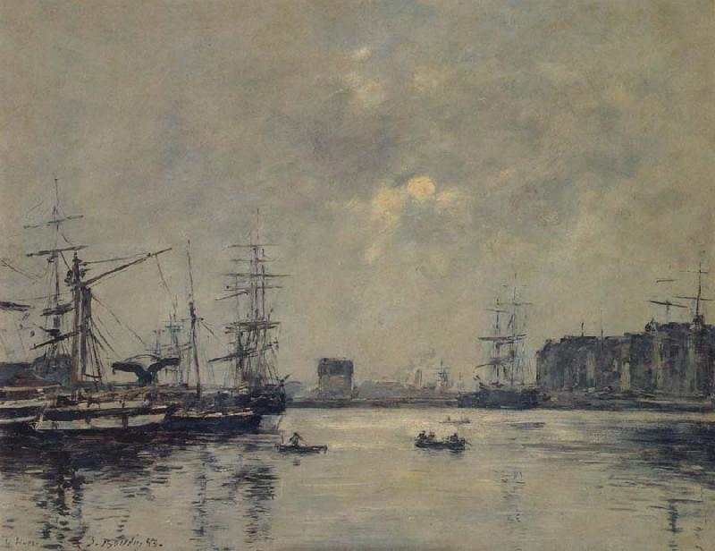 Eugene Boudin The Port Le Havre oil painting image