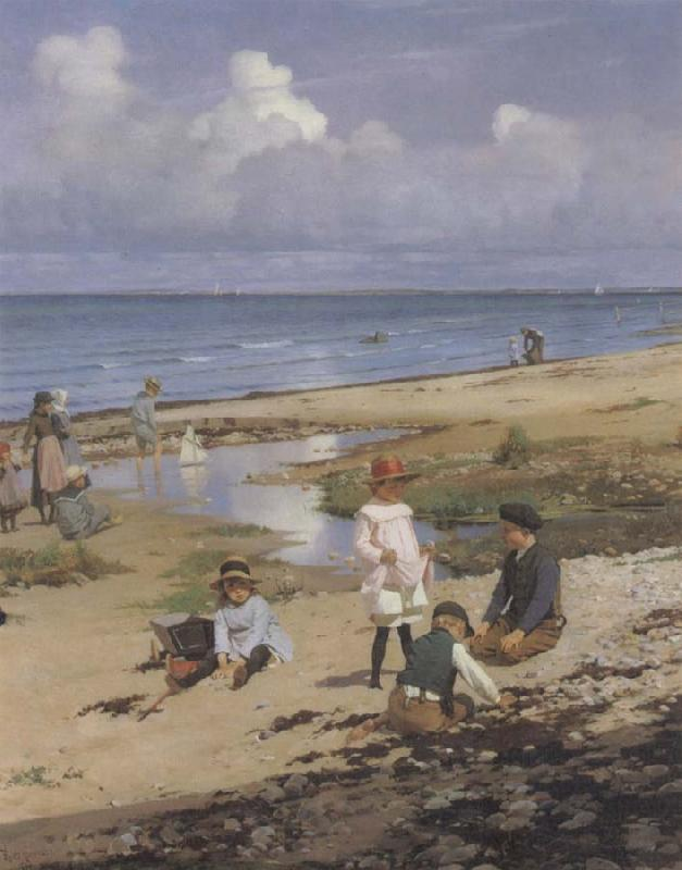 F.P.Henningsen A Summer-s Day Germany oil painting art