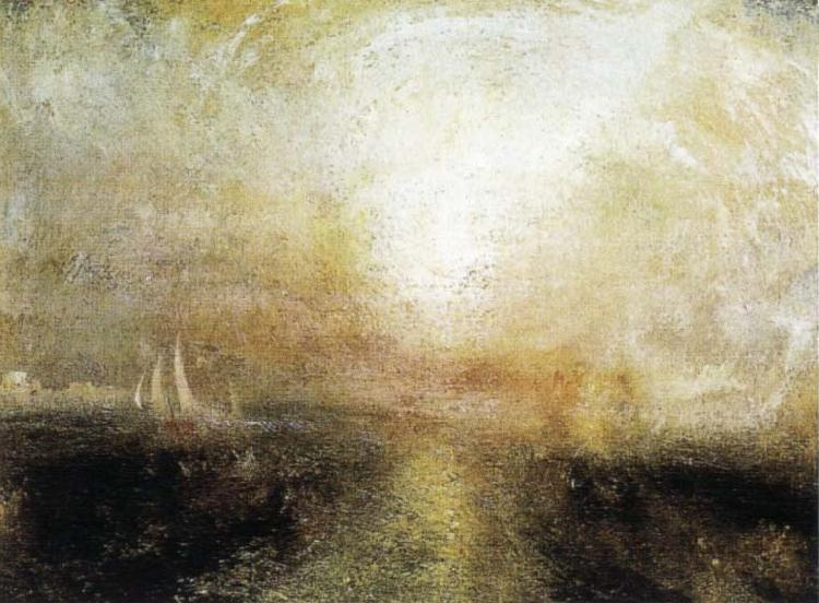 J.M.W. Turner Yacht Approaching the Coast oil painting image