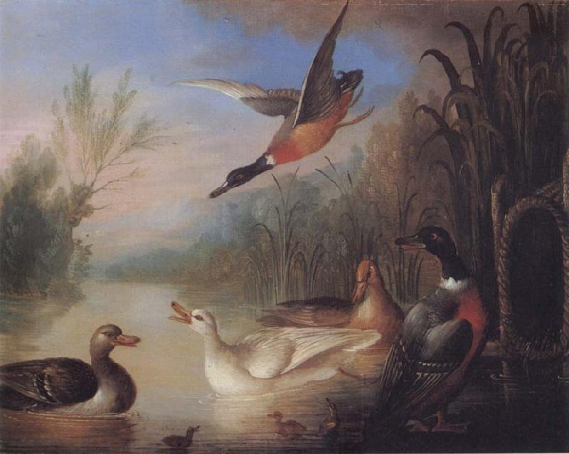 Marmaduke Cradock Waterfowl in a Landscape oil painting image