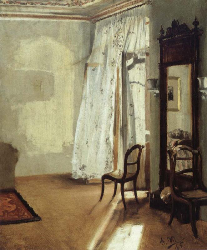 Adolph von Menzel The Balcony Room oil painting picture