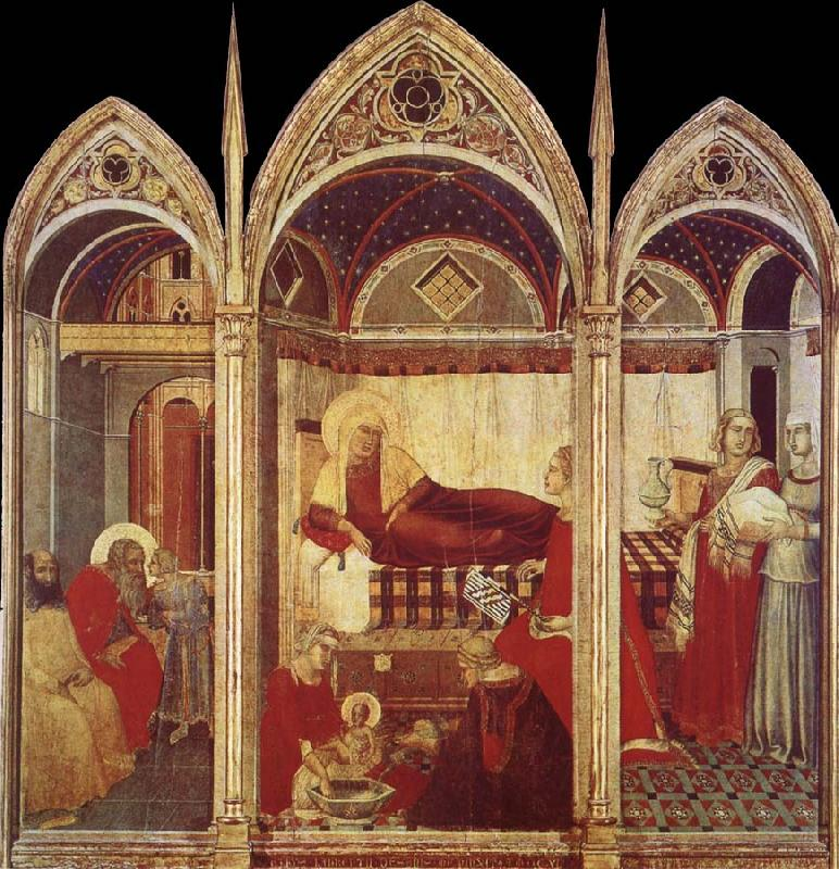 Ambrogio Lorenzetti Birth of the Virgin oil painting image