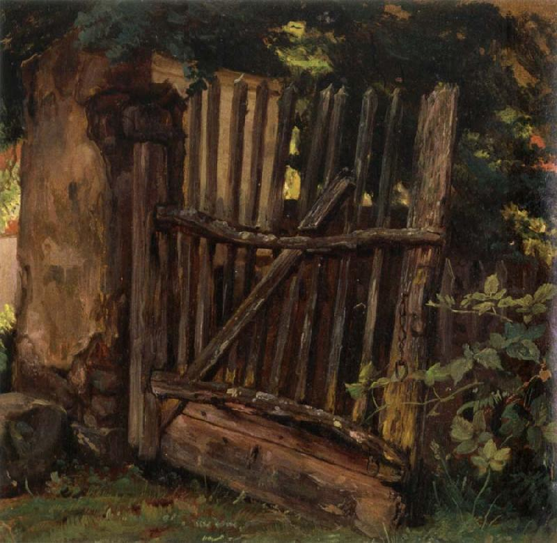 Christian Friedrich Gille Garden Gate oil painting image