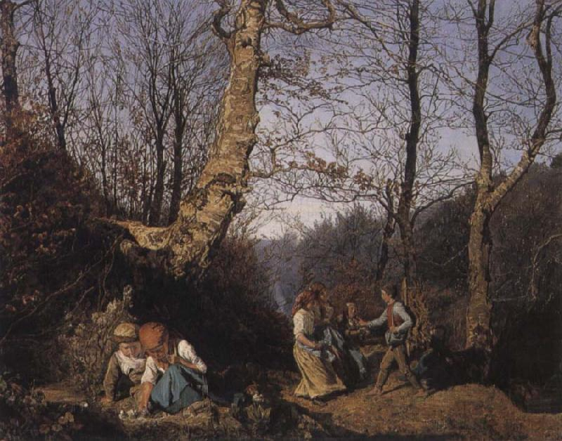 Ferdinand Georg Waldmuller Early Spring in the Vienna Woods oil painting image