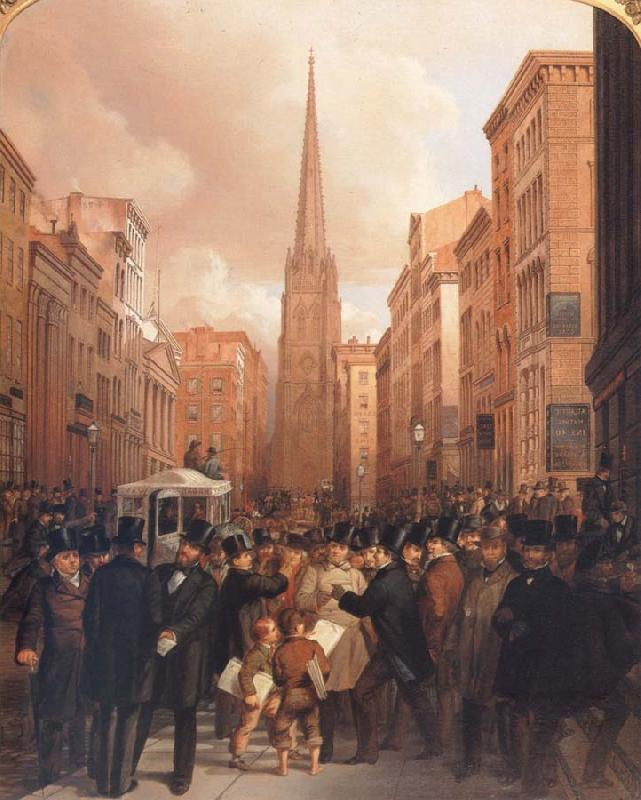 James H. Cafferty Wall Street oil painting image