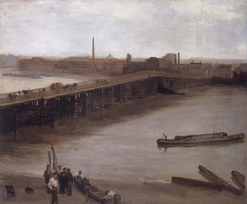 James Mcneill Whistler Brown and Silver Old Battersea Bridge oil painting image