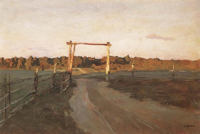 Levitan, Isaak Sommerabend oil painting image