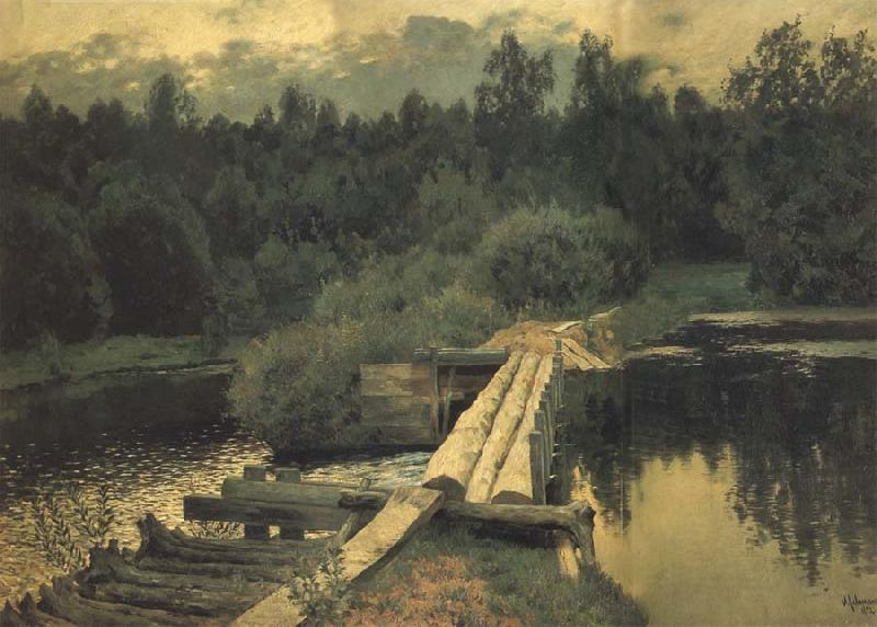 Levitan, Isaak An Der Untiefe oil painting image