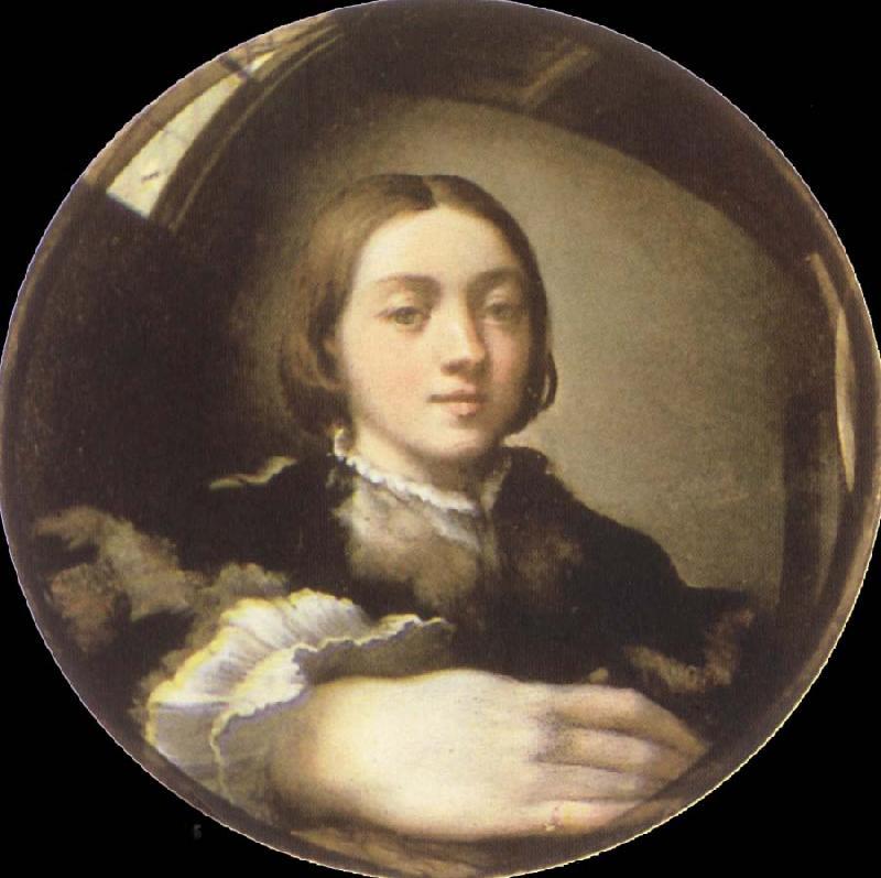 Customs size selbstportr t in einem konvexen spiegel for Autoportrait miroir