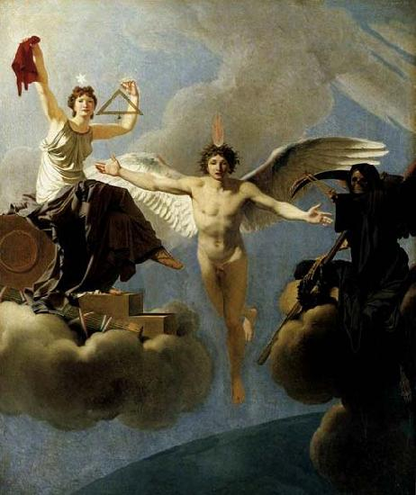 Baron Jean-Baptiste Regnault The Genius of France between Liberty and Death oil painting image