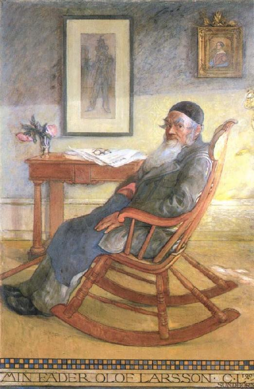 Carl Larsson My Father,Olof Larsson oil painting image