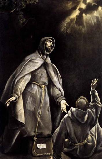 GRECO, El St Francis's Vision of the Flaming Torch oil painting picture