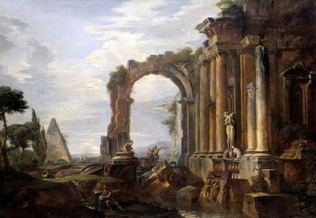 Giovanni Paolo Pannini Capriccio of Classical Ruins oil painting image