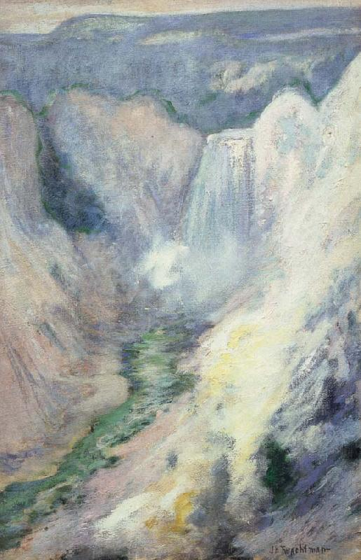 John Henry Twachtman Waterfall in Yellowstone oil painting image