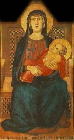 Ambrogio Lorenzetti Madonna of Vico l'Abate oil painting image
