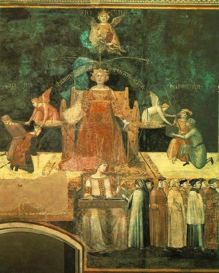 Ambrogio Lorenzetti Allegory of the Good Government oil painting image