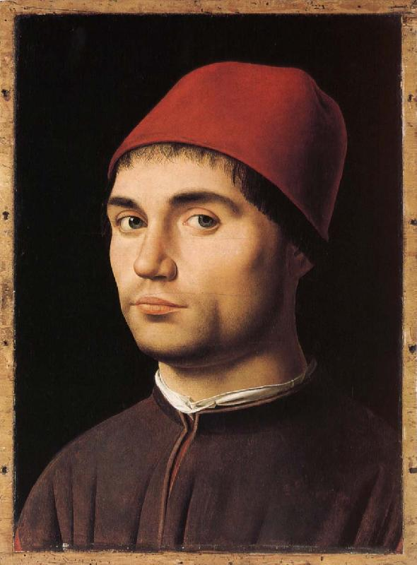 Antonello da Messina Portratt of young man oil painting image