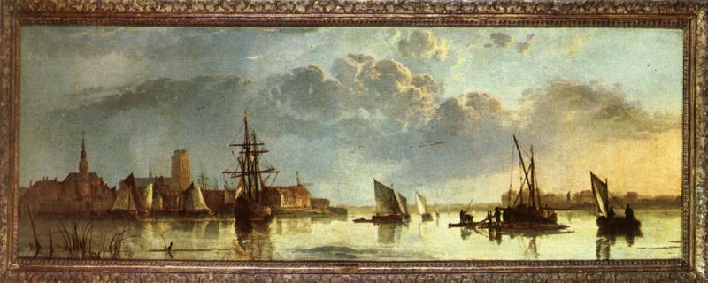 CUYP, Aelbert View on the Maas at Dordrecht oil painting image