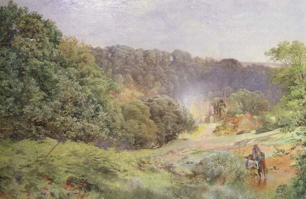 Alfred William Hunt,RWS Finchale Priory (mk46) oil painting image