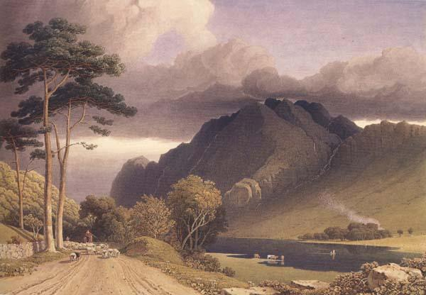 George Fennel Robson Loch Lubnaig,Perthshire (mk470 oil painting image