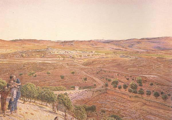 william holman hunt,o.m.,r.w.s The Plain of Rephaim from Mount Zion (mk46) oil painting image