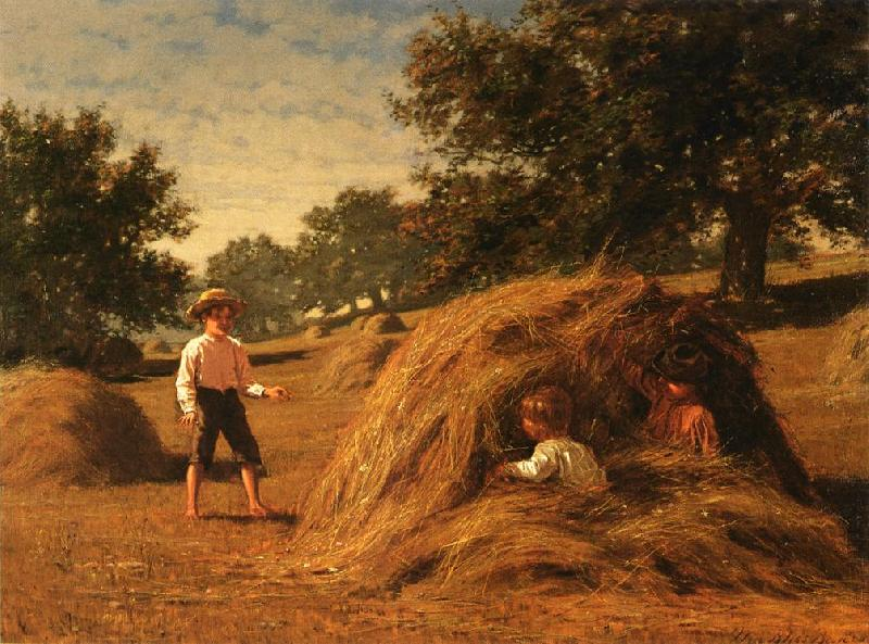 William Bliss Baker Hiding in the Haycocks oil painting image