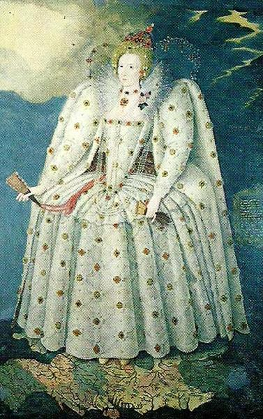 Anonymous queen elizabeth i oil painting image