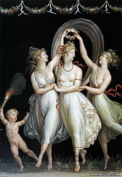 Antonio Canova The Three Graces Dancing oil painting image