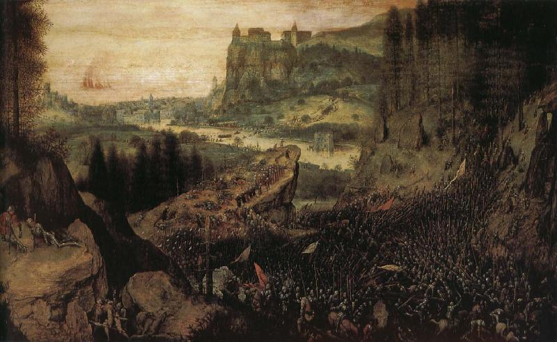 Pieter Bruegel Saul killed oil painting picture
