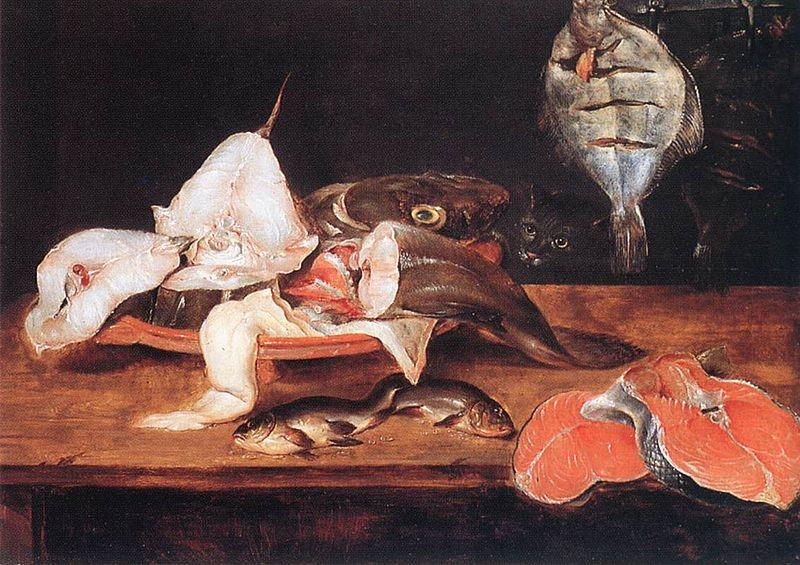 Alexander Adriaenssen Still-Life with Fish oil painting image