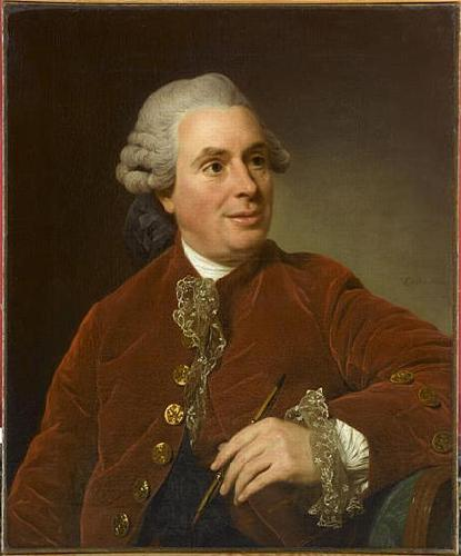 Alexandre Roslin Portrait of Charles-Nicolas Cochin oil painting image