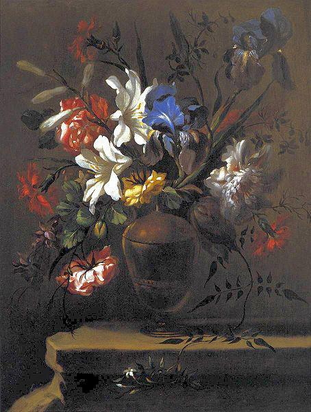 Bartolome Perez Vase of Flowers. oil painting image