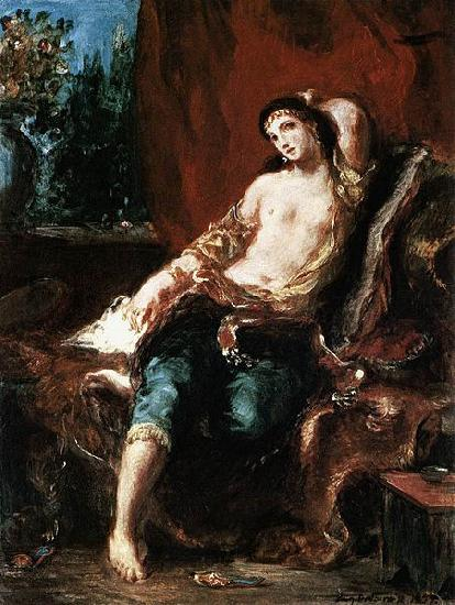 Eugene Delacroix Odalisque oil painting picture
