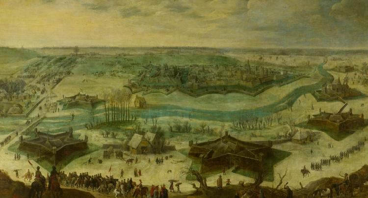 Peter Snayers A siege of a city oil painting image