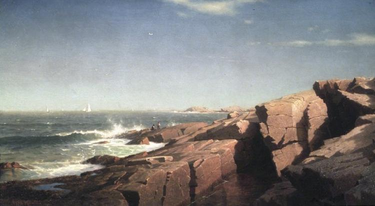 William Stanley Haseltine Rocks at Nahant oil painting picture