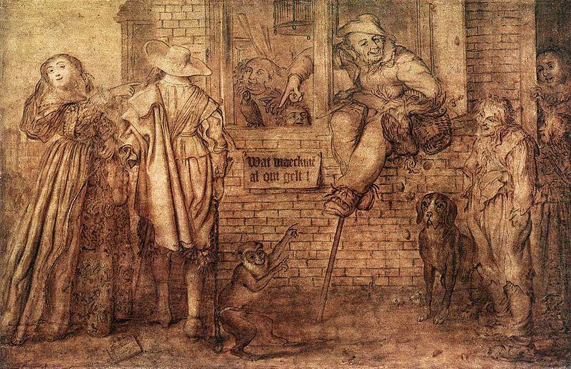 Adriaen van de Venne What Won't People Do for Money oil painting image