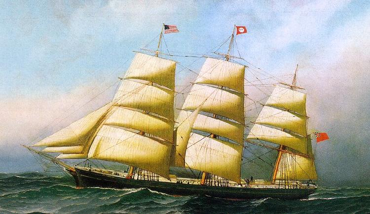 Antonio Jacobsen The British ship oil painting image