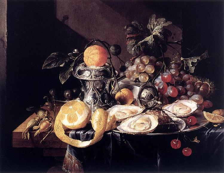 Cornelis de Heem Still-Life with Oysters oil painting image