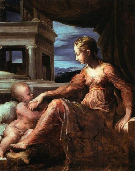 Francesco Parmigianino Virgin and Child oil painting image